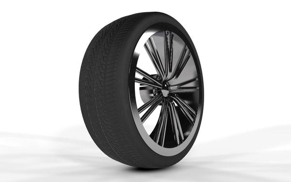 free wheel rim 3d model