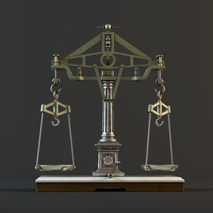 3ds max balance scales victorian