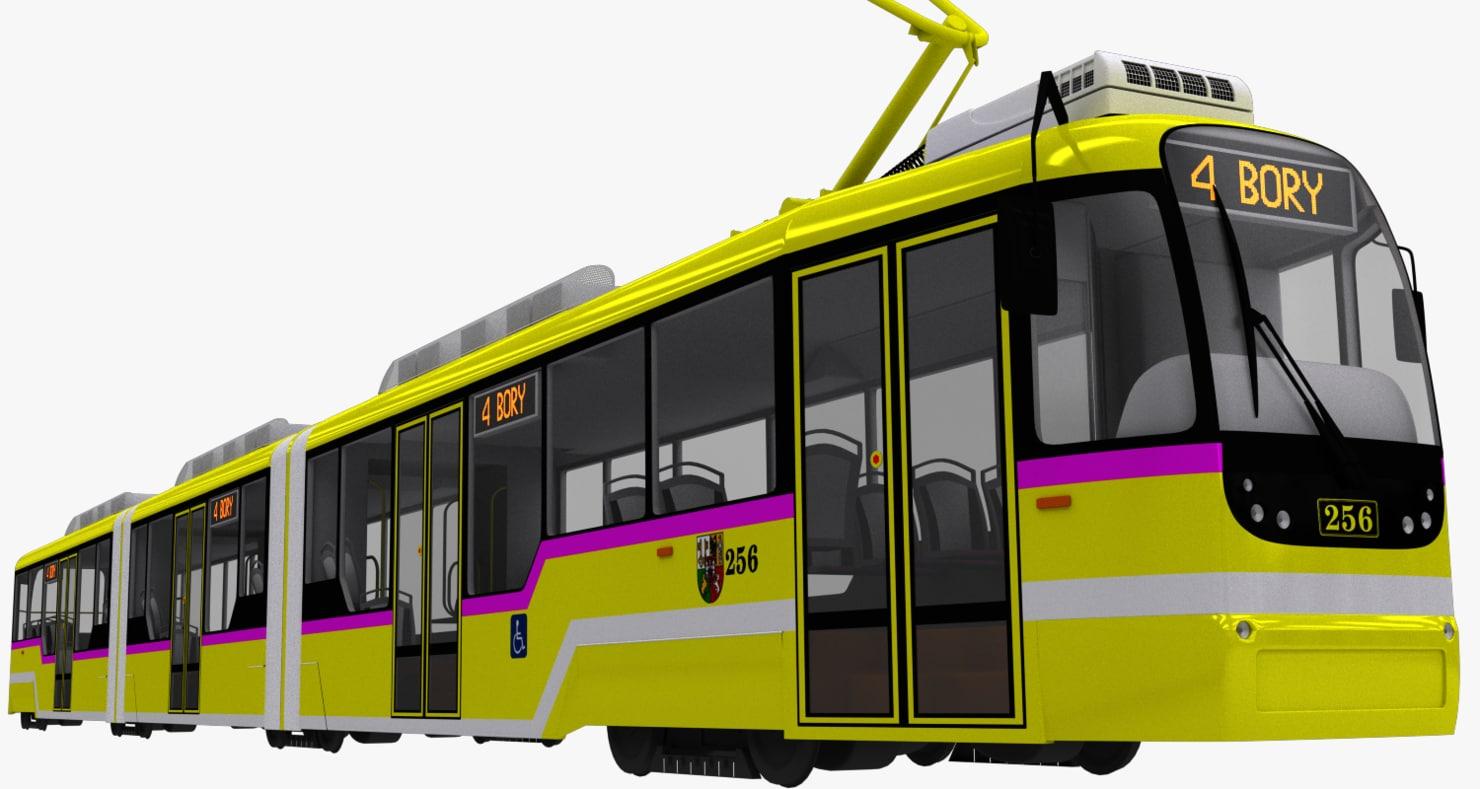 3d czech tram variolf3
