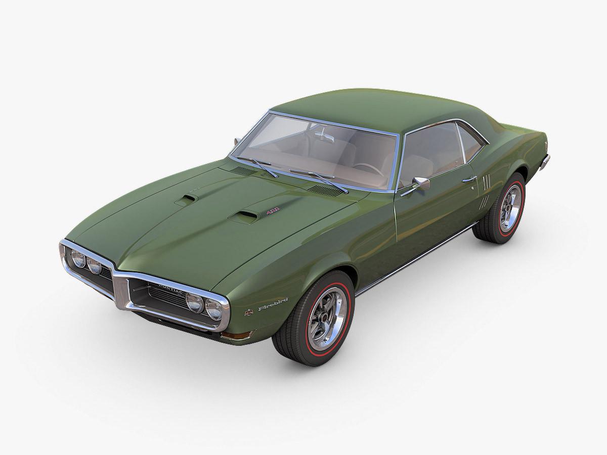 3d model pontiac firebird 1968