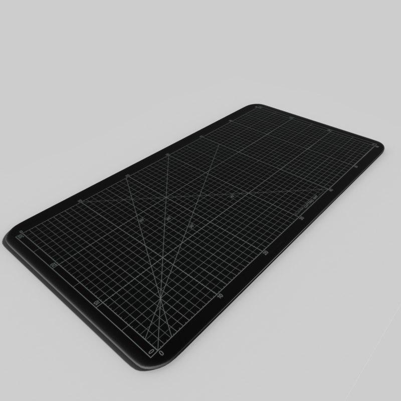 black cutting mat obj