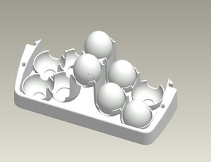 obj tray eggs
