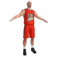 3d model basketball player