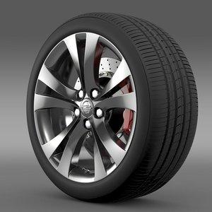 3d model opel insignia wheel