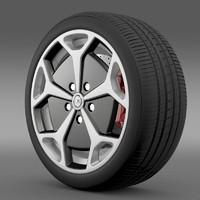3d model opel ampera wheel