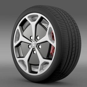 3d model opel ampera wheel