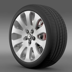 vauxhall insignia wheel 3d 3ds