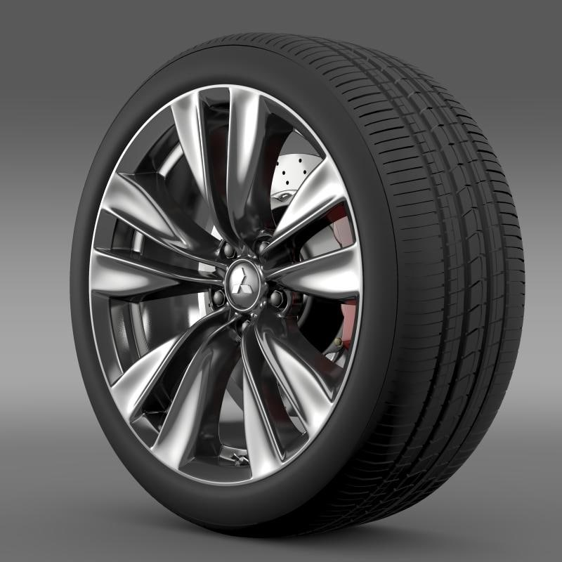 mitsubishi proudia wheel 3d model