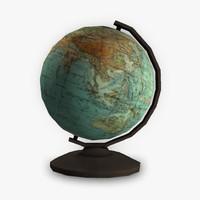 3d model of globe post-apocalyptic