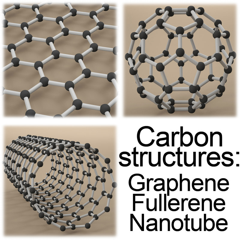 3d carbon structures graphene model