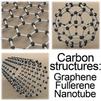Carbon structures: Graphene, Fullerene, Nanotube.