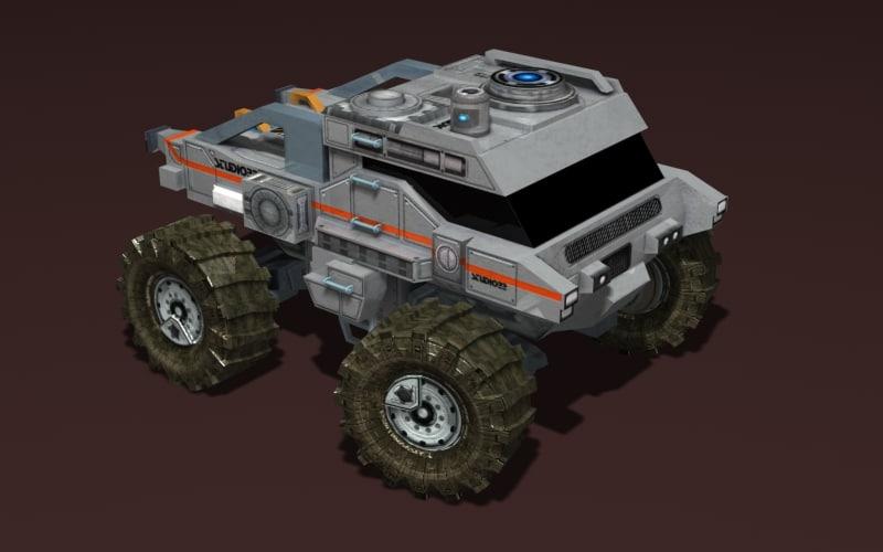 big truck mars 3d max