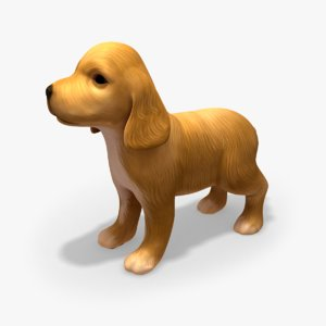 puppy rigged 3d model