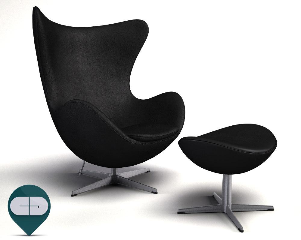 3dsmax egg chair
