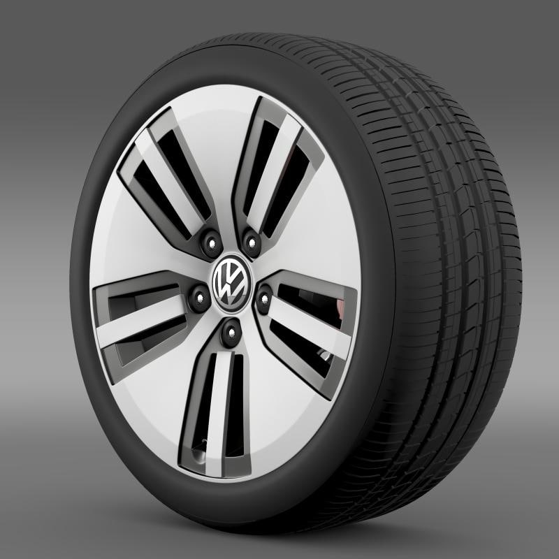 volkswagen e golf wheel 3d model