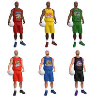 3d model rigged basketball player ball