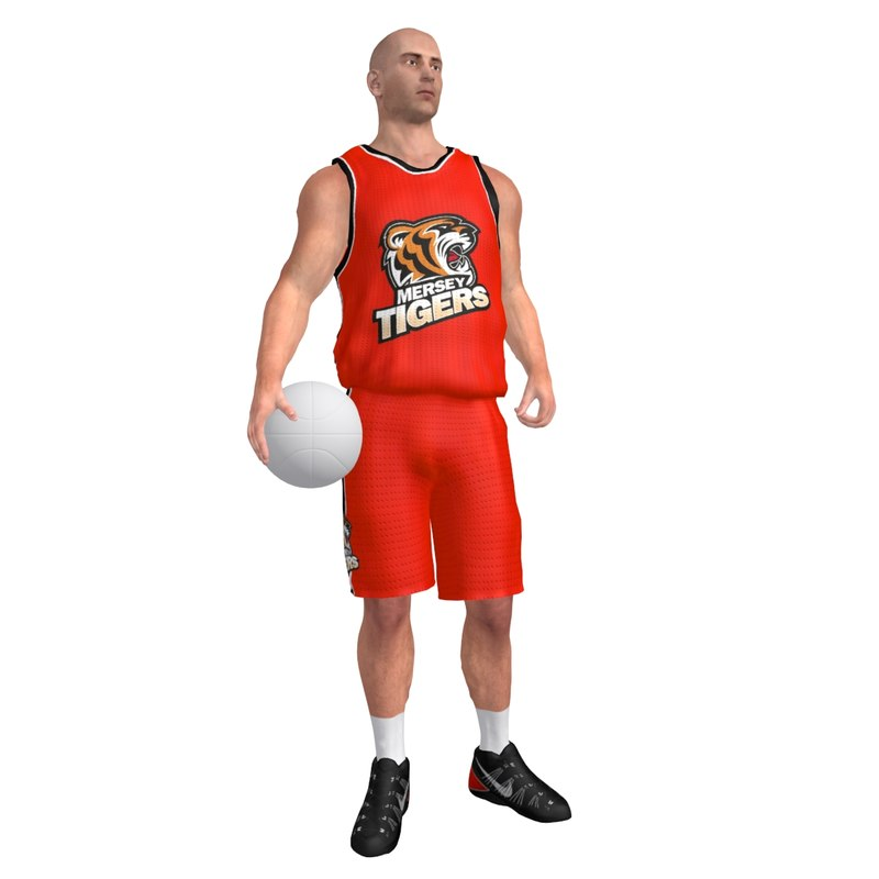 rigged basketball player ball max