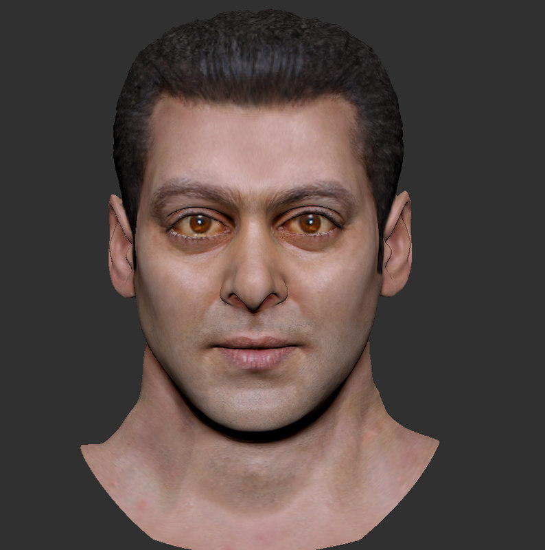 celebrity head salman khan 3ds
