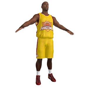 3d basketball player 2 model