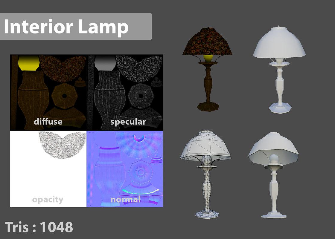 max interior stand lamp