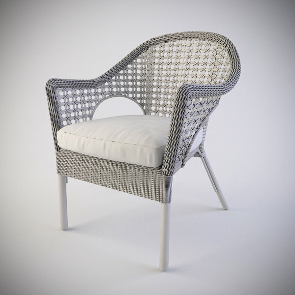 3d ikea armchair fintorp model