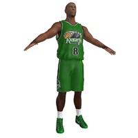 basketball player 3d obj