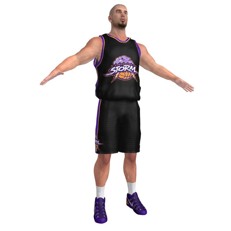 3d model basketball player 6