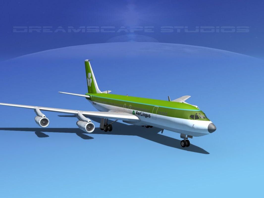 3d 707 boeing jet 707-320 model