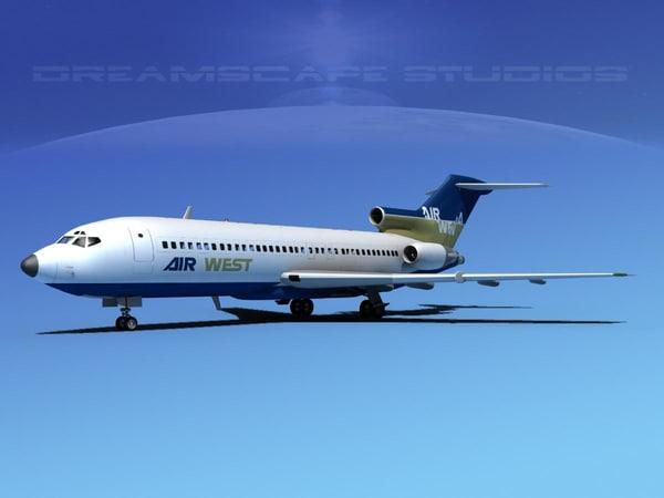 boeing 727 727-100 3d max