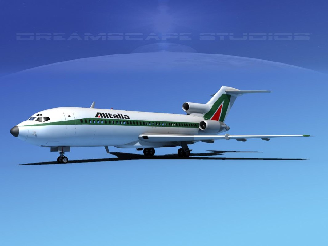 airline boeing 727 727-100 3d 3ds