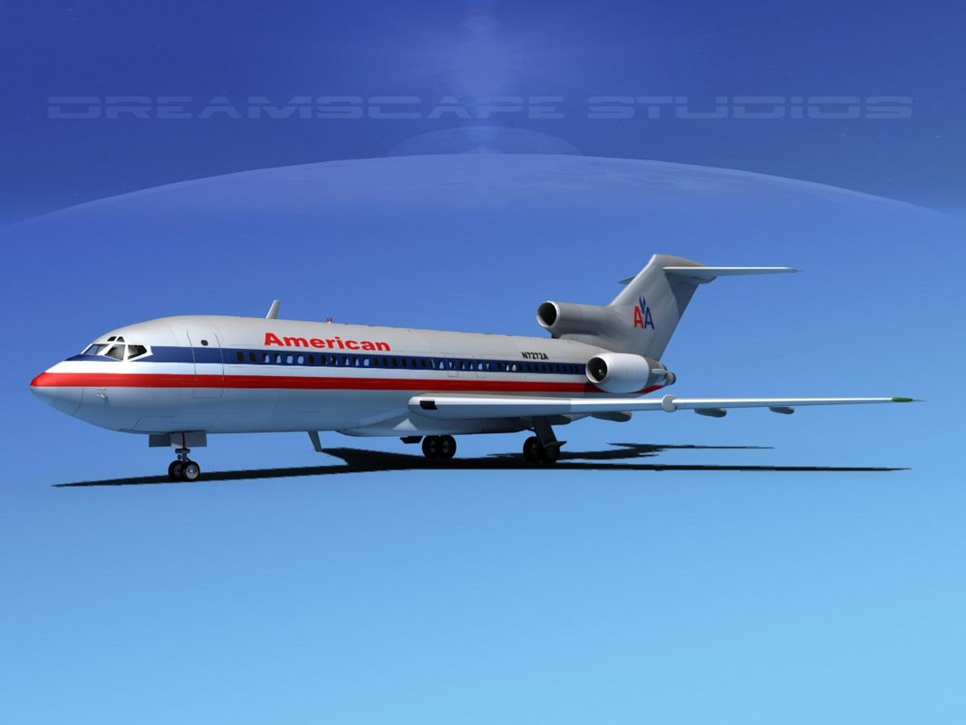 3d max airline boeing 727 727-100