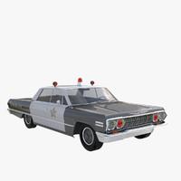 3d model impala sedan 1963