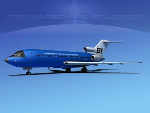 3d airline boeing 727 727-100