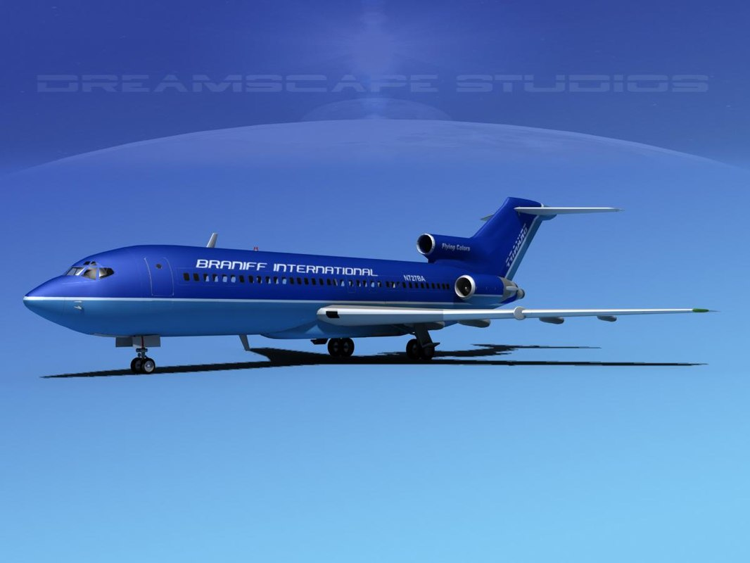 dxf airline boeing 727 727-100