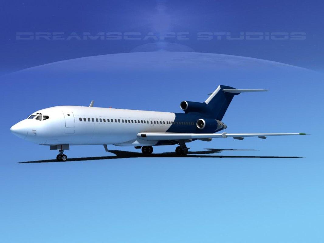 3d model boeing 727 jet 727-100