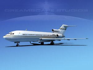 boeing 727 jet 727-100 3d model