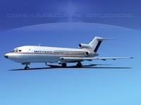 boeing 727 jet 727-100 3d lwo