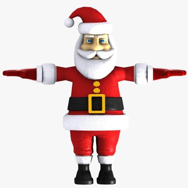 cartoon santa toon 3d model