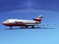 3d boeing 727 727-100 cargo