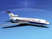 airline boeing 727 727-100 3d dxf