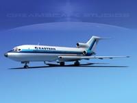 airline boeing 727 727-100 3d obj