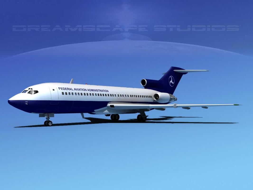 3d boeing 727 727-100