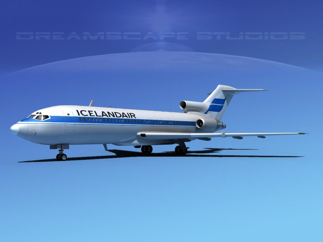 airline boeing 727 727-100 3ds