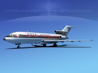 3d model of airline boeing 727 727-100