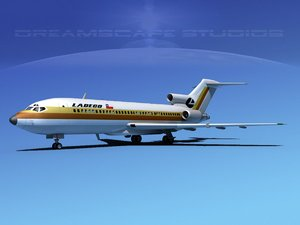 3d model airline boeing 727 727-100