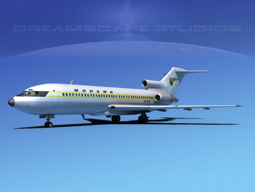 3d boeing 727 727-100 model