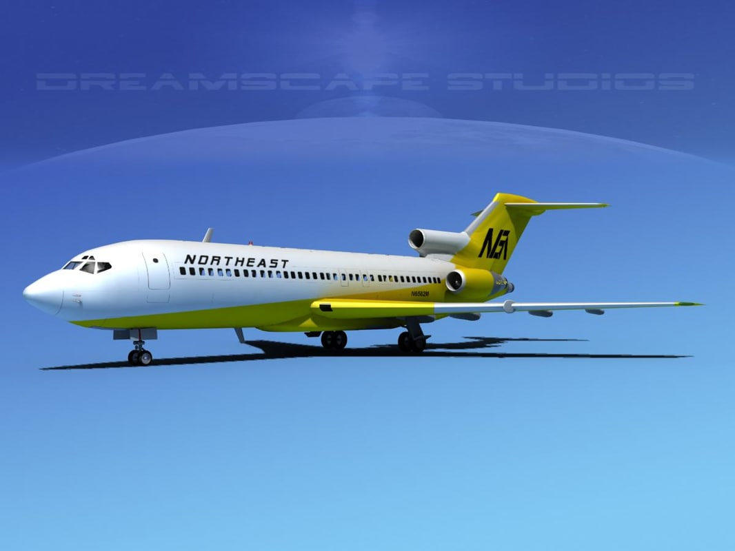 boeing 727 727-100 3d model