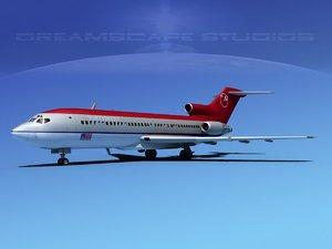 boeing 727 727-100 3d 3ds