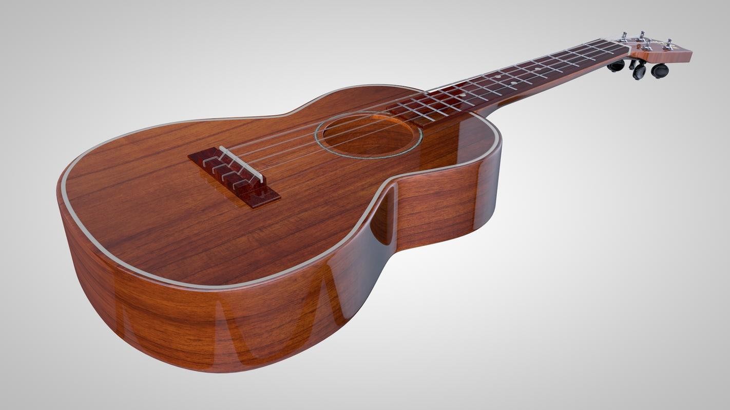 3d ukulele guitar