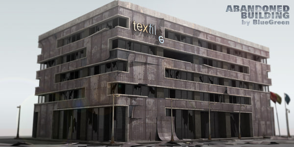 3dsmax abandoned building